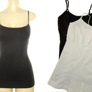 2 Shaping Cami 1 Black 1 White Size L (8-10)